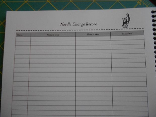 110 Sewing Projects - Needle Exchange Record